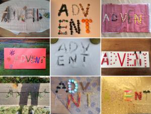 """Collage zum Wort """"Advent"""""""