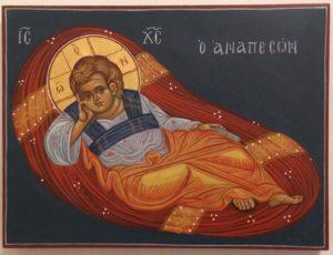 Ikone von Jesus Christus (Renate Ritscher, 2018)